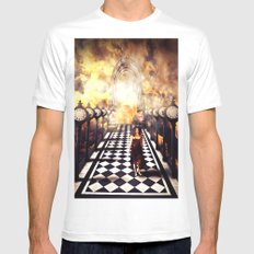 Walking Through Time Mens Fitted Tee White SMALL