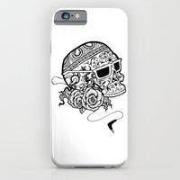 iPhone & iPod Case featuring Inked Skull by Najmah Salam