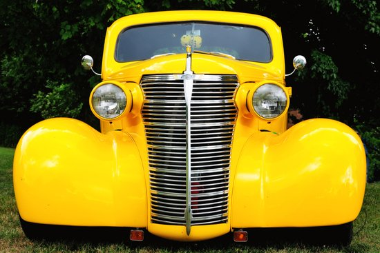 Yellow Chevy Art Print