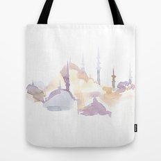 Watercolor landscape illustration_Istanbul - Saint Sophia Tote Bag