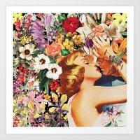 Floral Bed Art Print