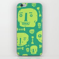 Skulls & Bones I - Green iPhone & iPod Skin
