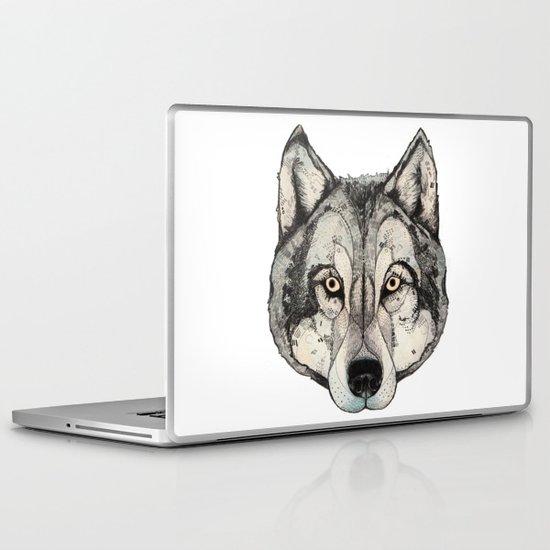 Wolf Mask Laptop & iPad Skin