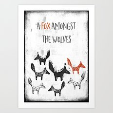 A fox amongst the wolves Art Print