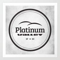 Platinum Valley Art Print