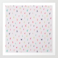 Bright Letters Art Print
