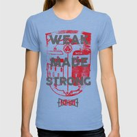 WEAK MADE STRONG Womens Fitted Tee Tri-Blue SMALL