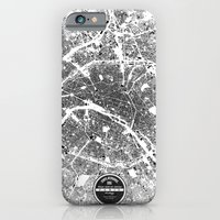 iPhone Cases featuring PARIS by Maps Factory
