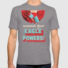Summon Your Eagle Powers Mens Fitted Tee Tri-Grey SMALL
