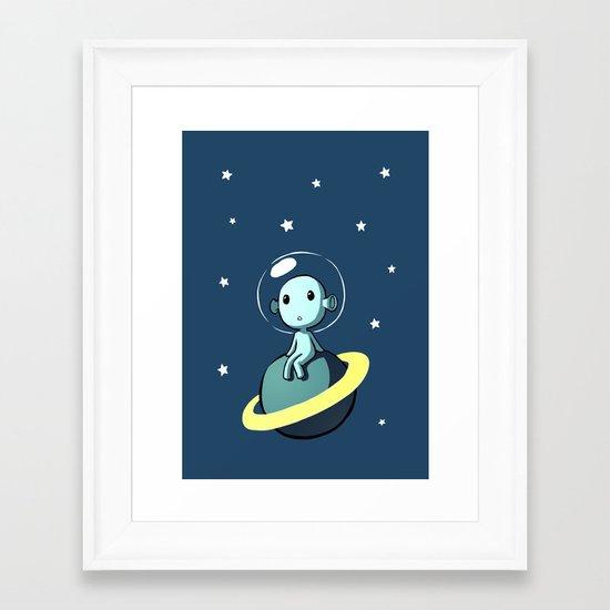 Space Alien Framed Art Print