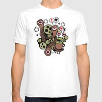 COSMIC LOVE ZONE Mens Fitted Tee White SMALL