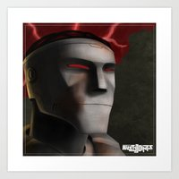 Rusty Joints Portrait - Airbrush Style - Feature Study Art Print