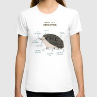 Anatomy Of A Hedgehog Womens Fitted Tee White MEDIUM