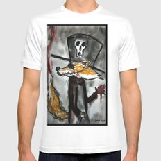 Dandy Fox Demonic White Mens Fitted Tee SMALL