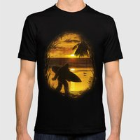 Secret Spot Mens Fitted Tee Black SMALL