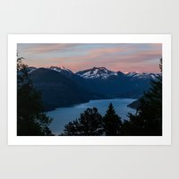 Midnight Sunset Art Print