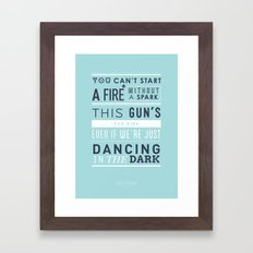 Lyrical Type - Dancing In The Dark Framed Art Print