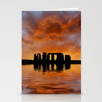 Stonehenge Sunrise, Wiltshire Stationery Cards