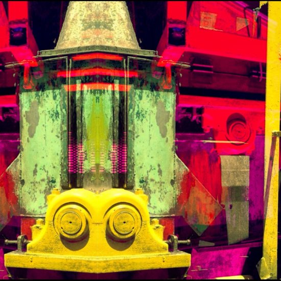 Industrial Abstract Twins Art Print