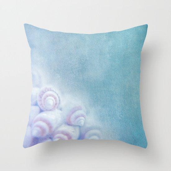 BELLA BLEU - Still life with sea shells Throw Pillow