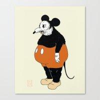 Mickey Da Rat Canvas Print