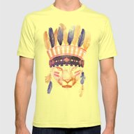 Big Chief Mens Fitted Tee Lemon SMALL
