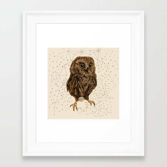 Mr.Owl IV Framed Art Print