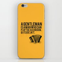 Definition of a Gentleman iPhone & iPod Skin