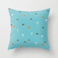 Ruby buds Throw Pillow