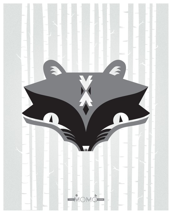 The Ra & Mr. Coon Art Print
