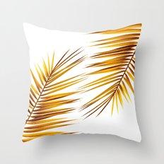 golden palm leaf II Throw Pillow