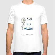 1 in Million Mens Fitted Tee White SMALL