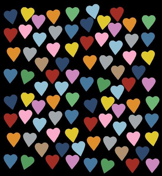 Hearts #3 Black Canvas Print