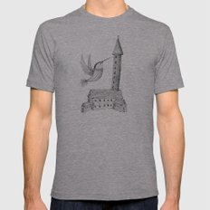 'Tower' Mens Fitted Tee Athletic Grey SMALL