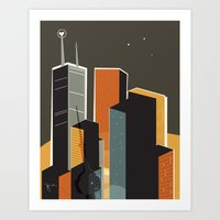 Summer in Toronto (alt colour) Art Print