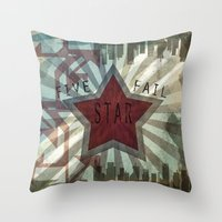 Five Star Fail. Throw Pillow