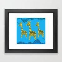 Giraffe Abstract Framed Art Print