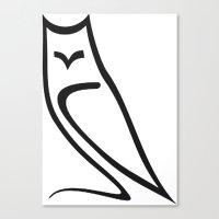 Vector Style Owl Canvas Print