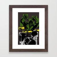 Smash the Drums... Framed Art Print