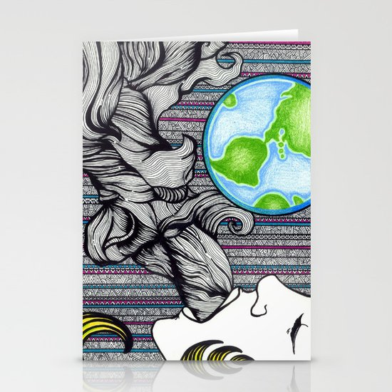 Earthling Stationery Card