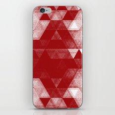 pattern red iPhone & iPod Skin