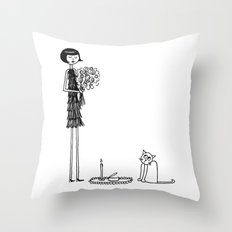 Eloise wondered if she had crossed the threshold into crazy cat lady territory Throw Pillow