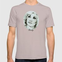 Dolly Parton Mens Fitted Tee Cinder SMALL