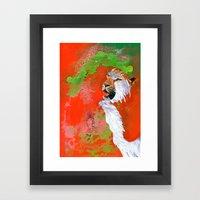 BEAST BRAVERY Framed Art Print