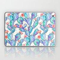 Rainbow Watercolor Cactus Pattern Laptop & iPad Skin