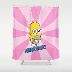 Brave Corporate Logo Shower Curtain