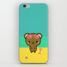 Cute bear on holiday iPhone & iPod Skin
