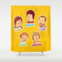 Alan & Dennis & Brian & … Shower Curtain