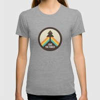 For the Love of the Forest Womens Fitted Tee Tri-Grey SMALL