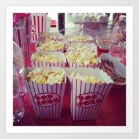 Popcorn Art Print